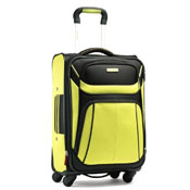 Black and yellow carry on bag