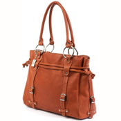 Leather Claire Chase laptop handbag