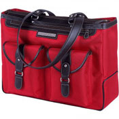 Red Clark & Mayfield laptop bag