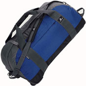 Blue travel duffel bag