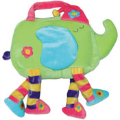 Kid's multicolored plush bag