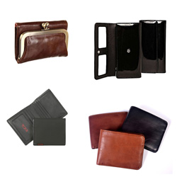 Selection of leather wallets
