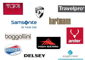 Various famous luggage brands logo