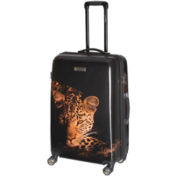 National Geographic leopard spinner luggage